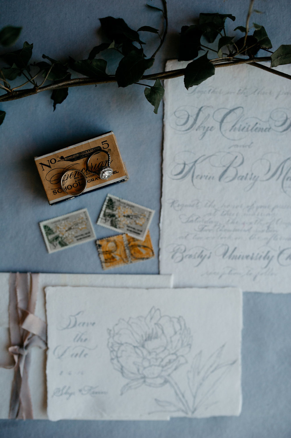 RomanticCalligraphyWeddingInvitation
