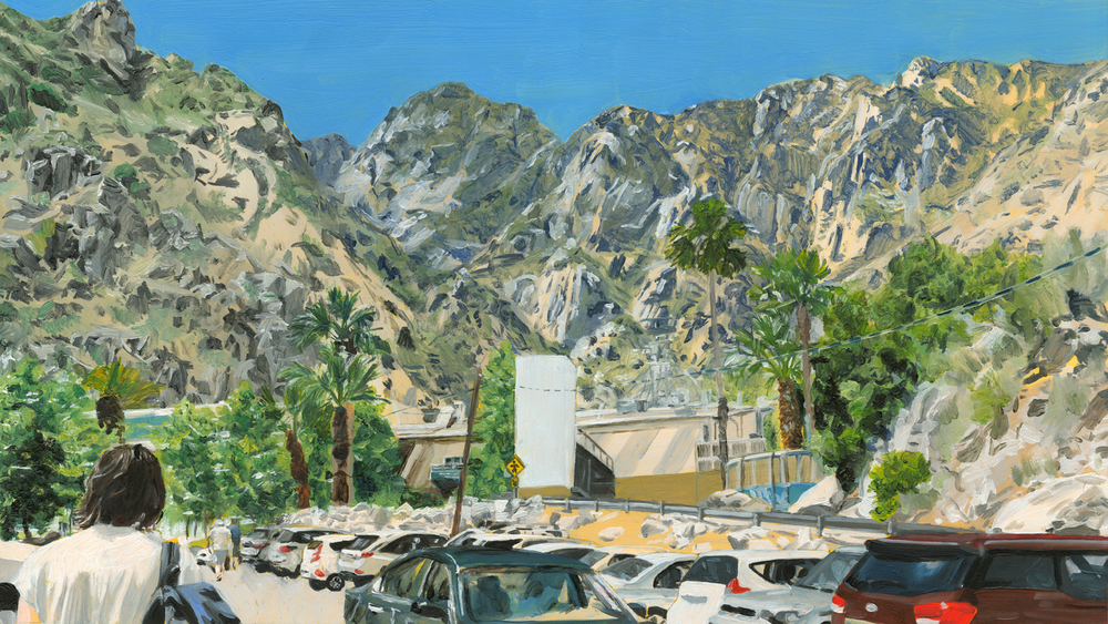 Palm Springs car park