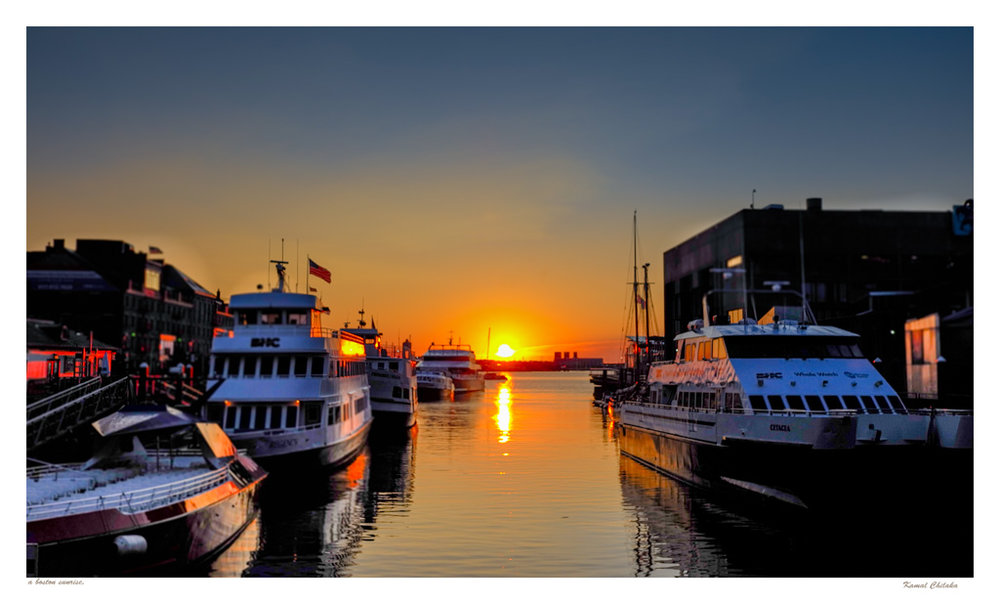 Sunrise at Boston Harbour