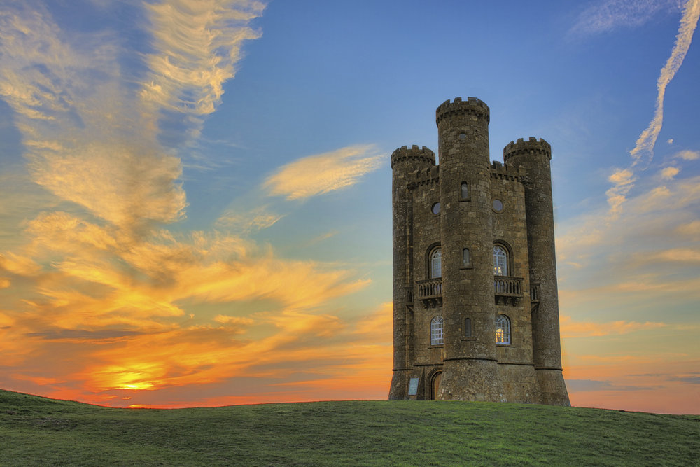 Sunset at Broadway Tower,Cotswolds,UK