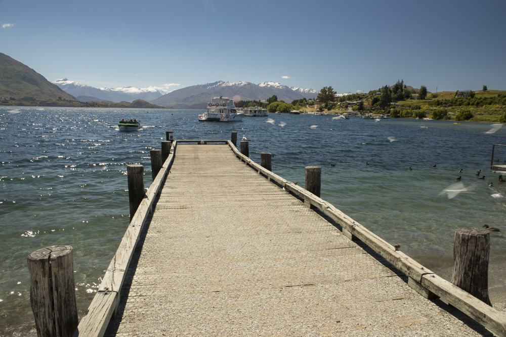 Pier at Lake Wanaka, New Zealand