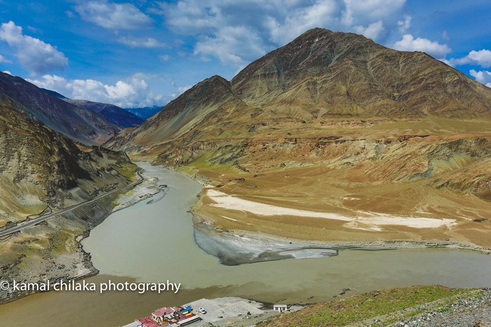 At the Confluence of Zhanskar and Indus Rivers