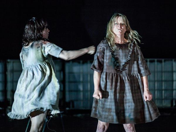 Kate Sherman and Nicci Wilks  in Animal playing at Theatre Works.  Photograph by Pier Carthew.