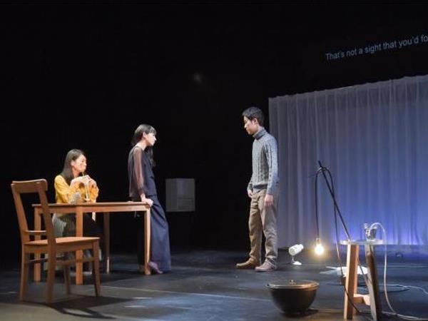 Izumi Aoyagi, Mari Ando and Yo Yoshida perform in Time's Journey Through a Room. Image by Masumi Kawamura
