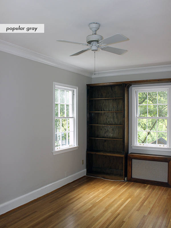 A traditional masculine southern study blue door living for Popular grey paint sherwin williams