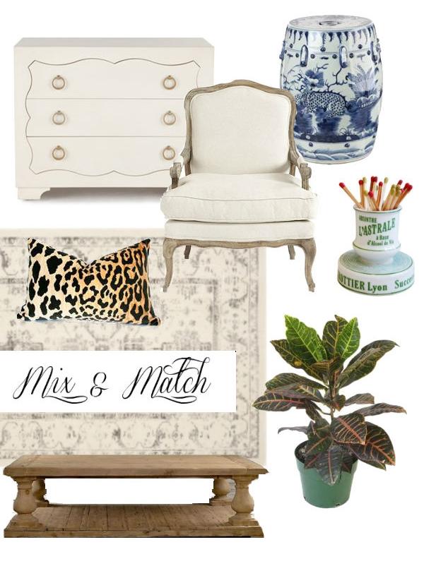 mix match a transitional decor scheme - Transitional Decor