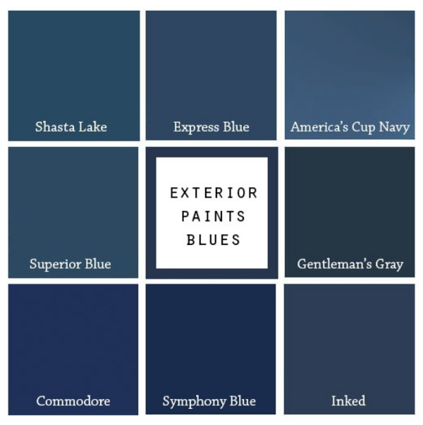 8 paint colors for a blue front door blue door living for Popular blue colors