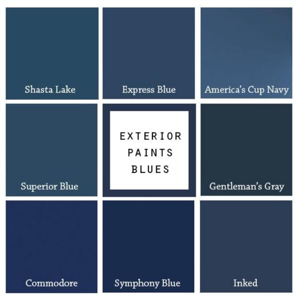 8 paint colors for a blue front door blue door living for Popular blue colors