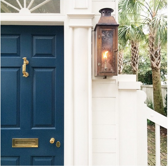 Creating instant curb appeal blue door living for Navy blue front door
