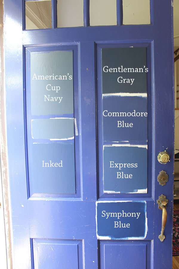 8 Paint Colors For A Blue Front Door
