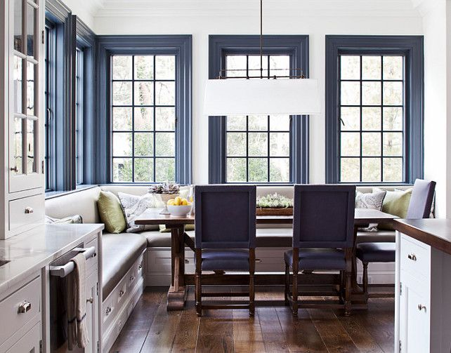 New trend bold trim blue door living for Blue walls white trim