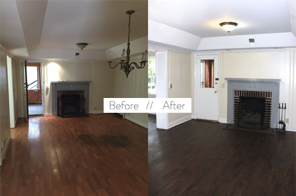 Before Amp After Faux Wood Floors Blue Door Living