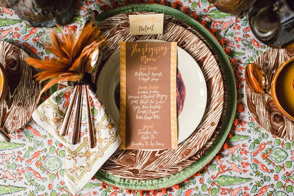 I Love This Table Cloth By Pomegranate That Bring In The Rusty Oranges,  Greens And Whites That Mix Wondering With Metals And Natural Woods.