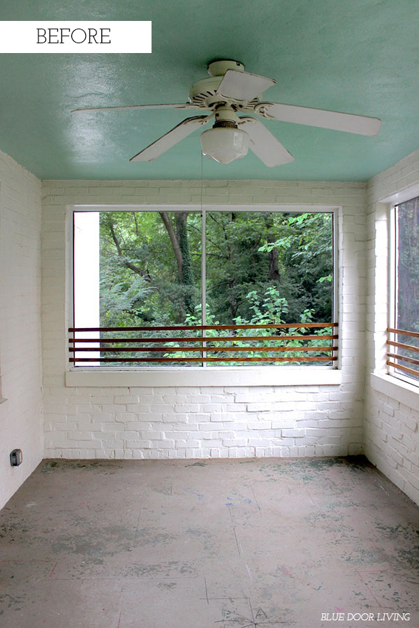 screened in porch before