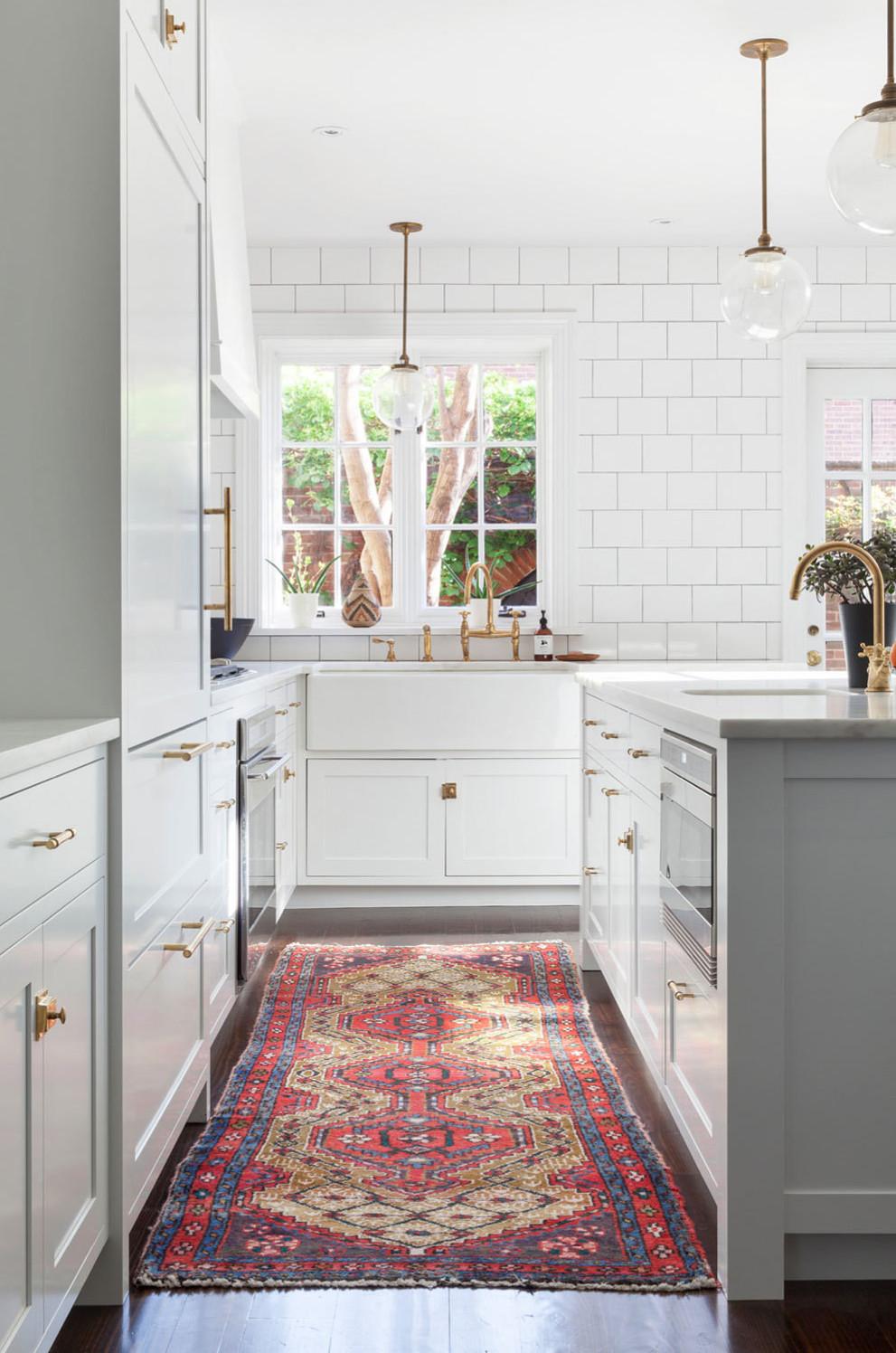 kitchen trend: brass hardware - blue door living