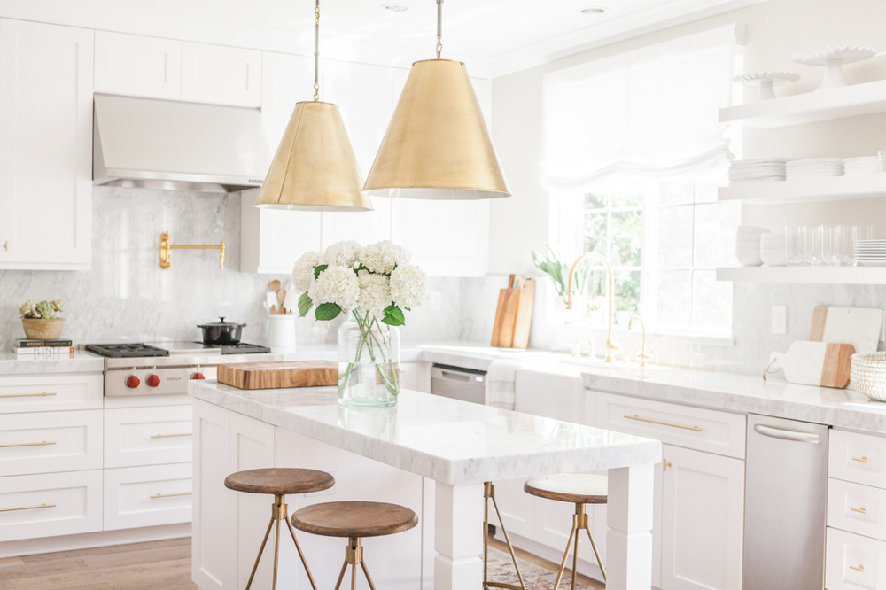 nicole davis gold brass kitchen