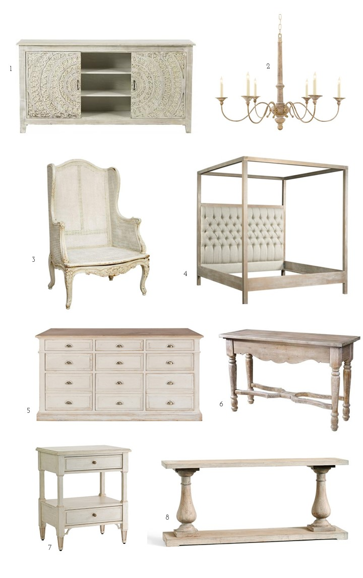 white washed furniture