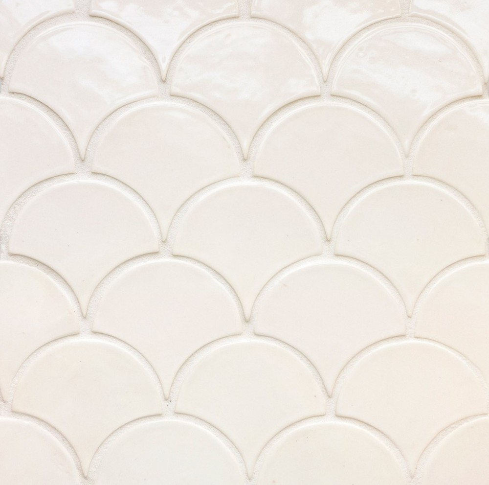 Medium Moroccan Fish Scales - 9 Historic White
