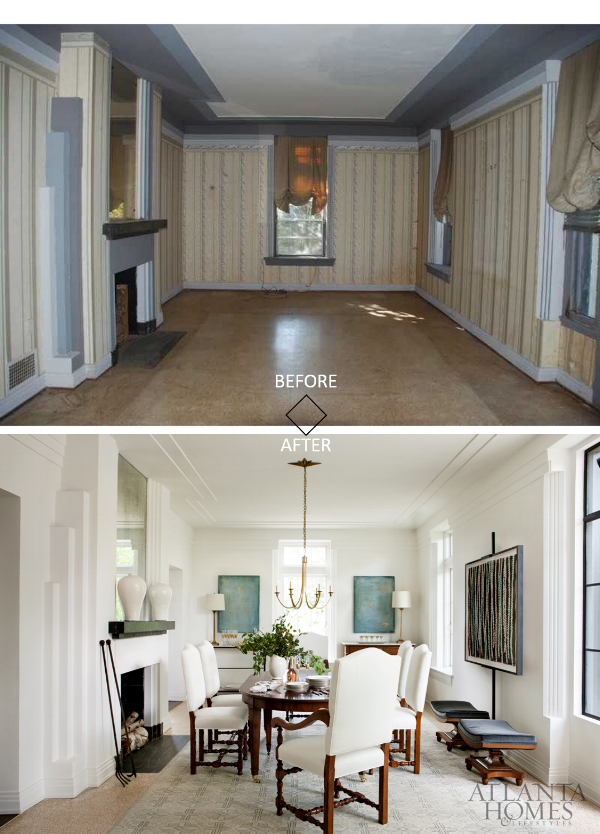 evans cucich house before and after dining room art deco