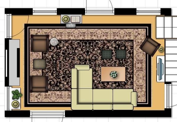front door opens to living room