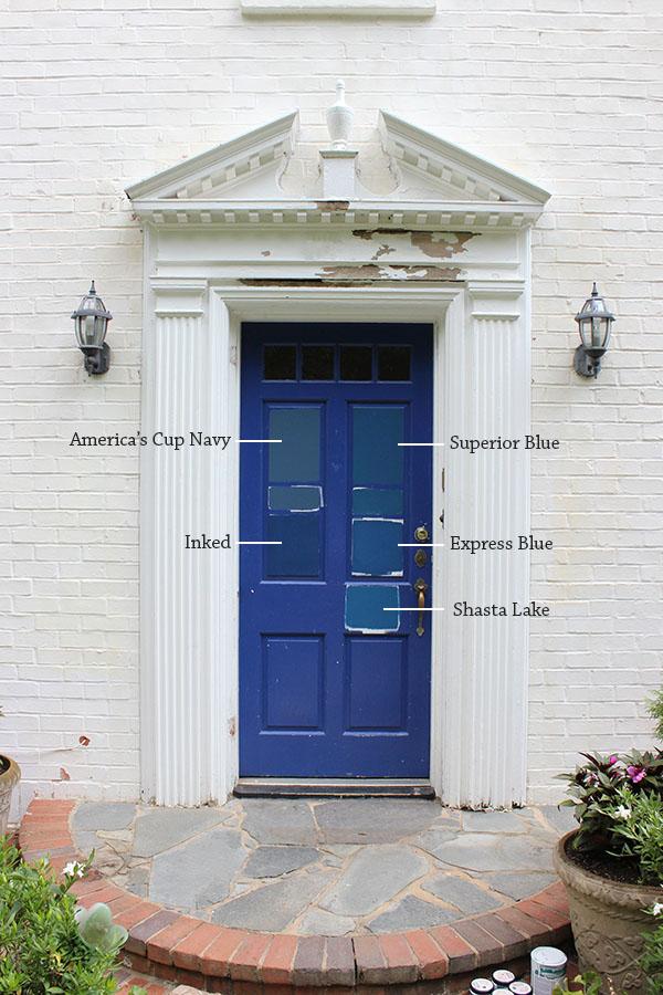 8 paint colors for a blue front door blue door living - House with blue door ...