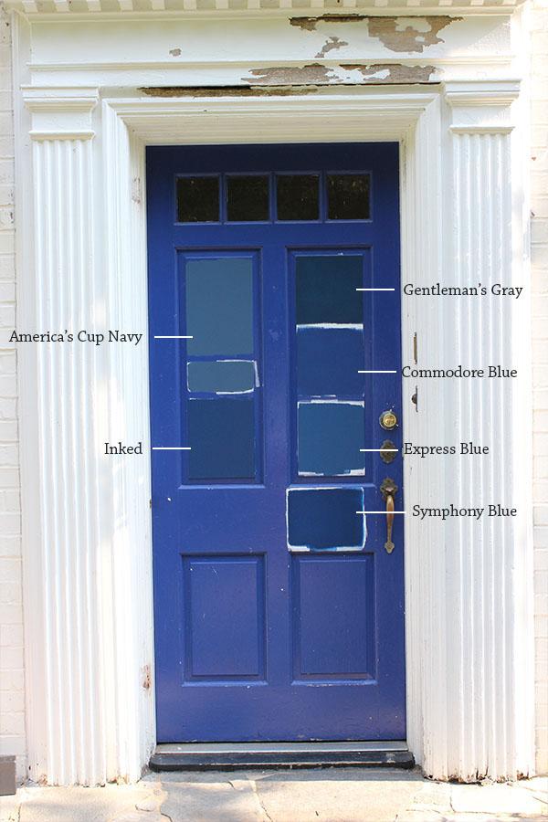 8 paint colors for a blue front door blue door living - Blue front door colors ...