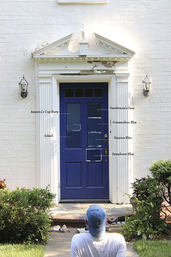 Looking at the colors from the street Gentleman\u0027s Gray was too dark and Commodore Blue and Symphony Blue were a bit too cobalt. & 8 Paint Colors For A Blue Front Door \u2014 Blue Door Living