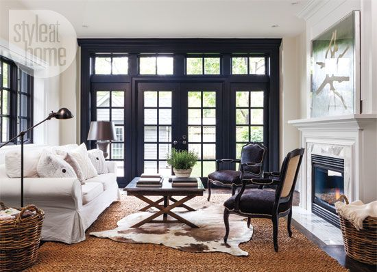 12 reasons to paint your window frames black blue door living
