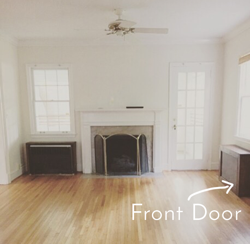 front door opens into living room