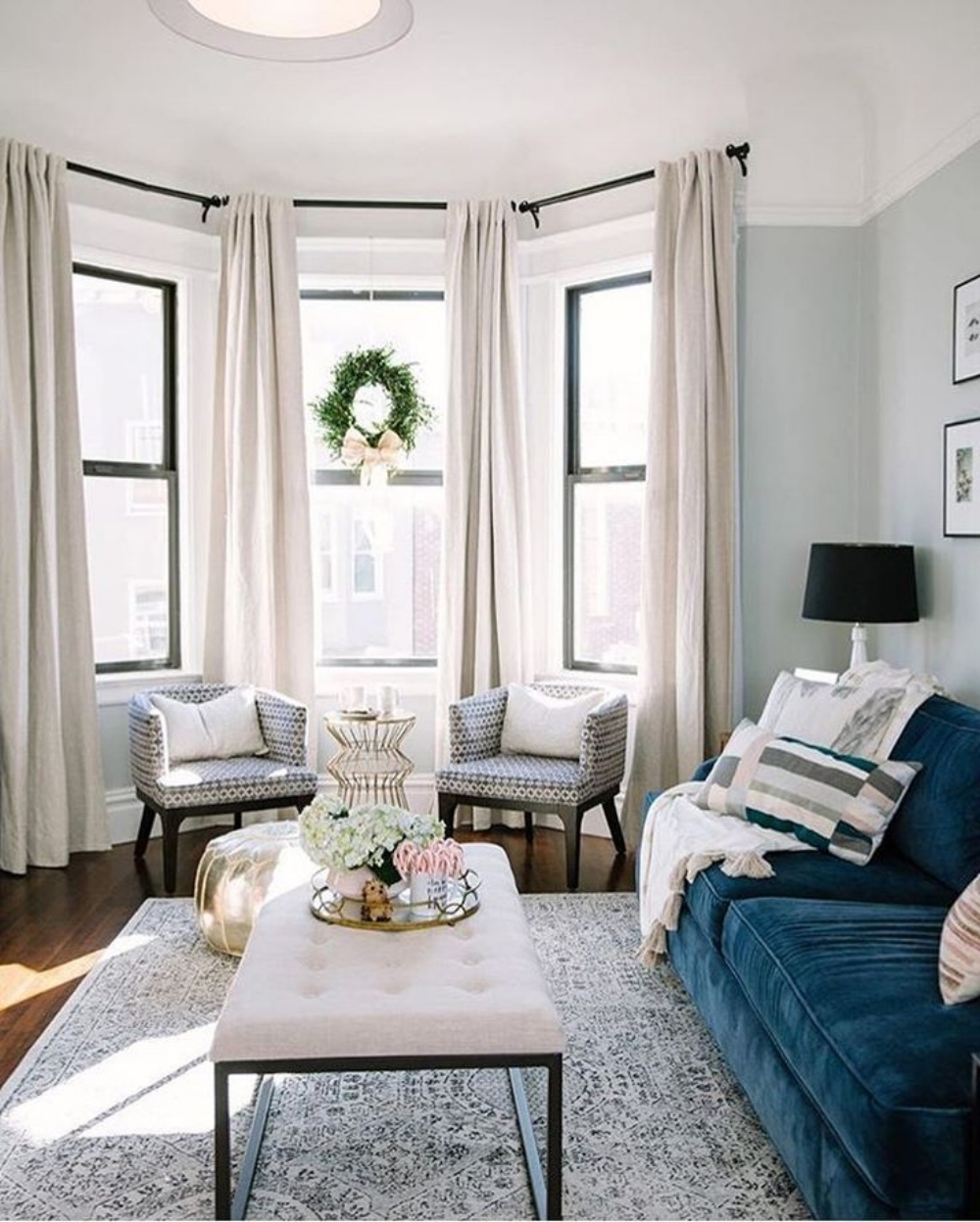 A Blue Sofa: Pop of Color or Glamorous Statement Piece — Blue Door ...