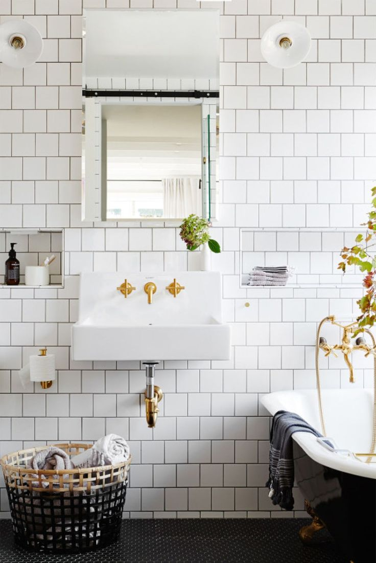 Top Tile Trends I Love Right Now Blue Door Living - White square tile bathroom