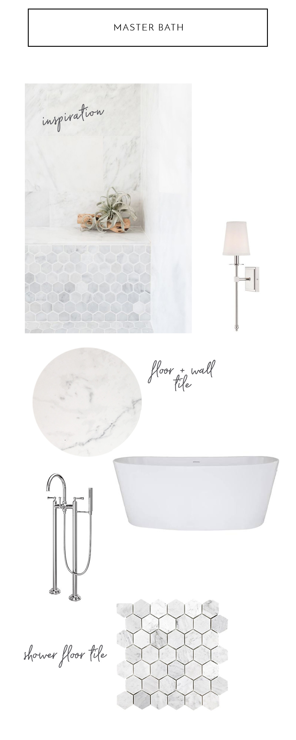 Blue Door Living Master Bath Design Plan