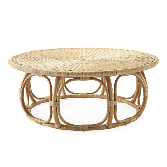 anguilla rattan coffee table - Sold By Serena & Lily