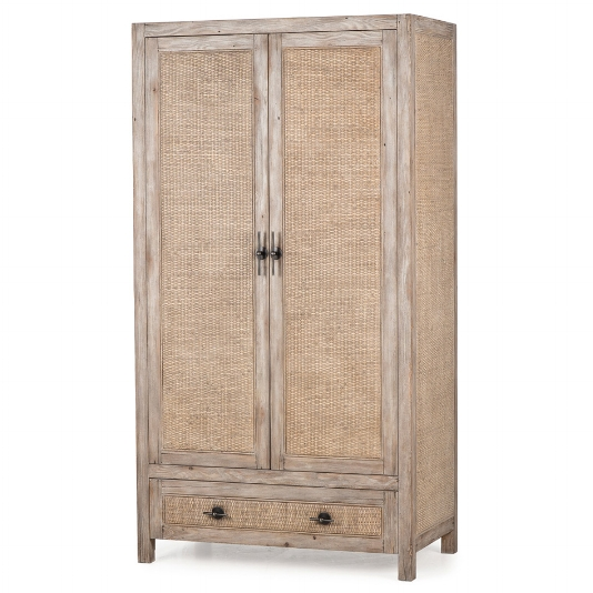 french country rattan cabinet - Sold By Kathy Kuo Home