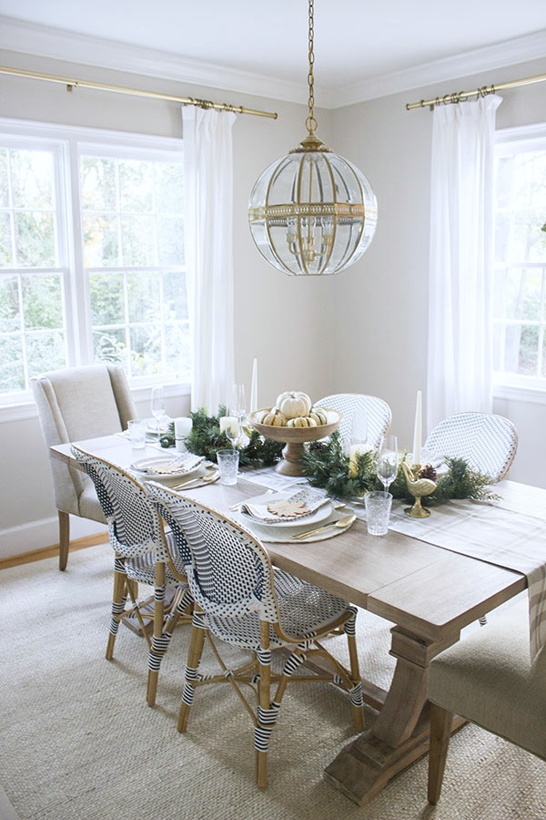 A Thanksgiving Table In Green & Gold -