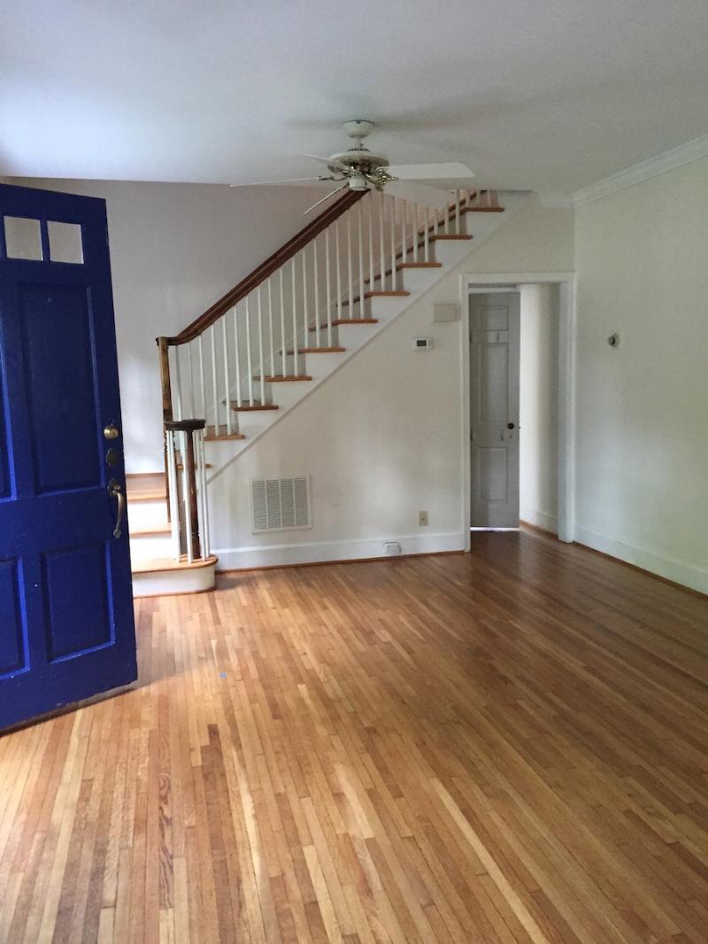blue door living living room front door entry
