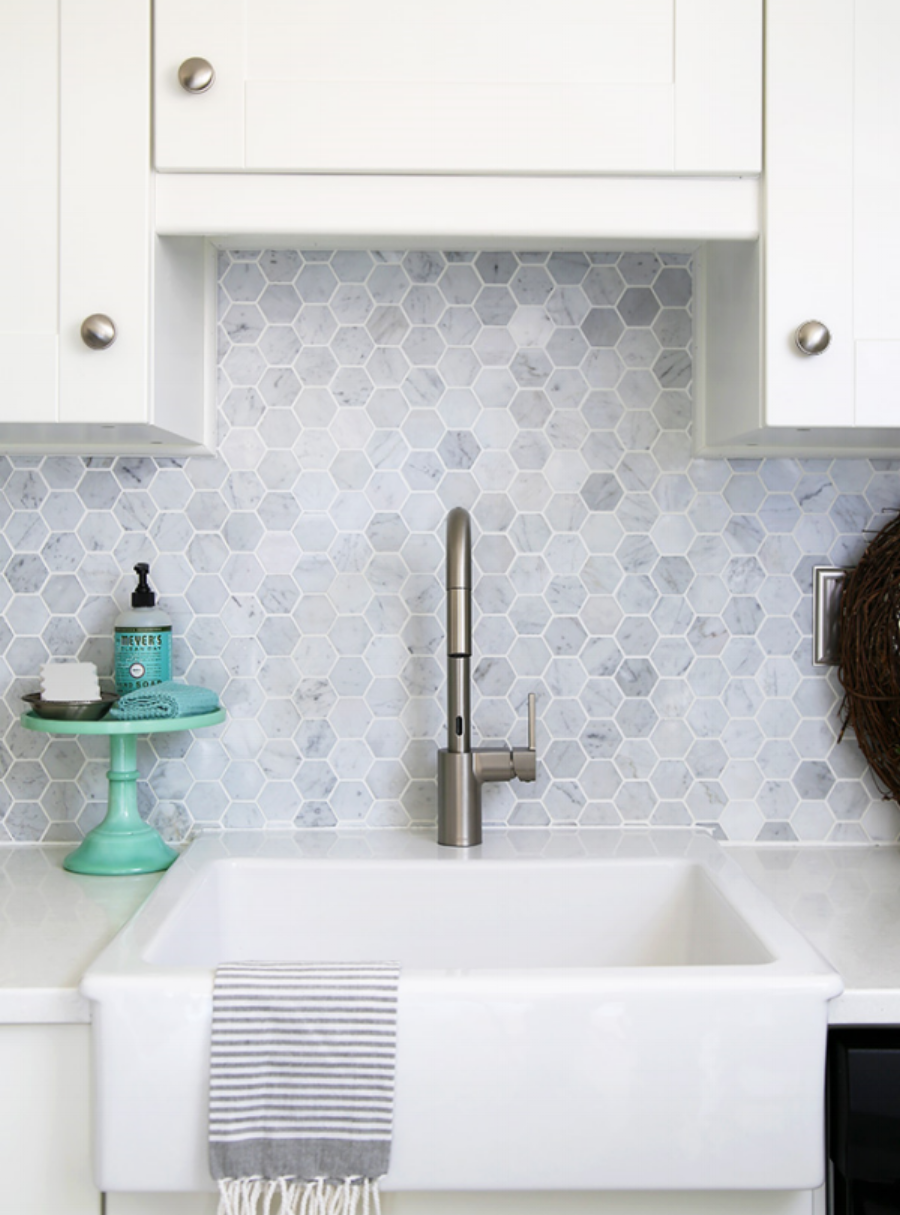 11 backsplash alternatives to subway tile blue door living - Splashback alternatives ...