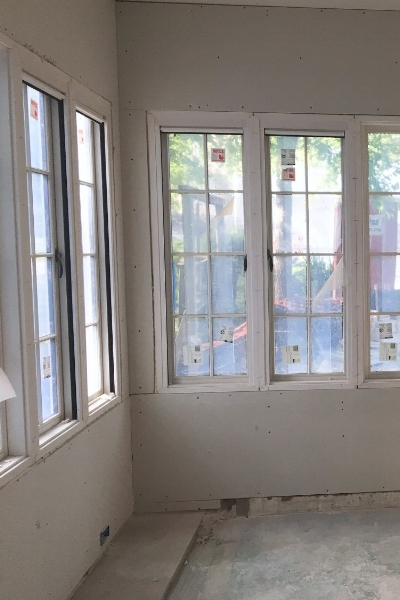 blue door living renovation porch