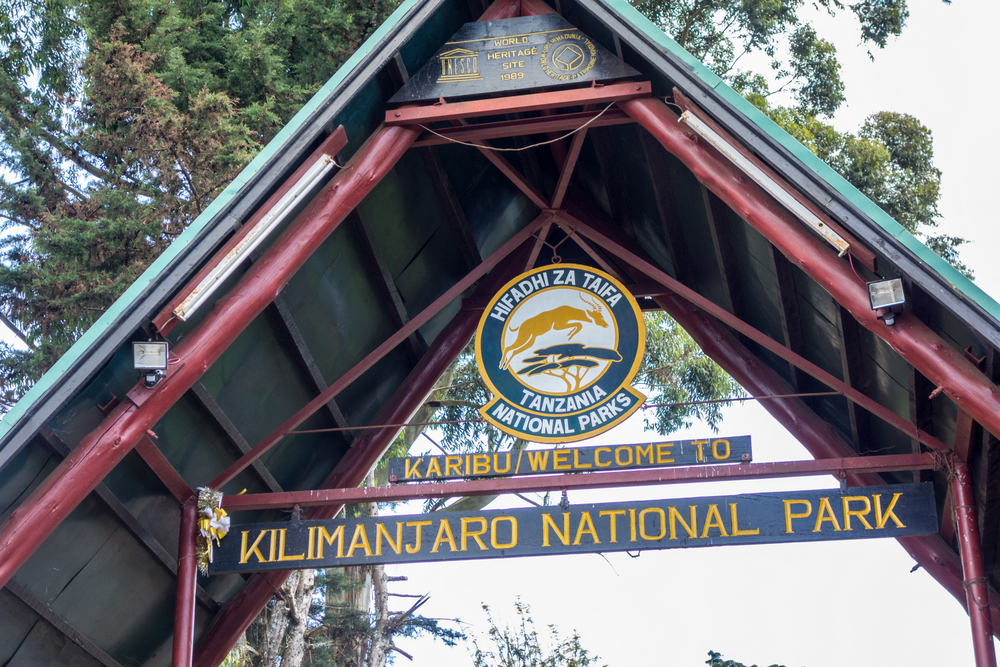 The Main Gate to Kilimanjaro National Park