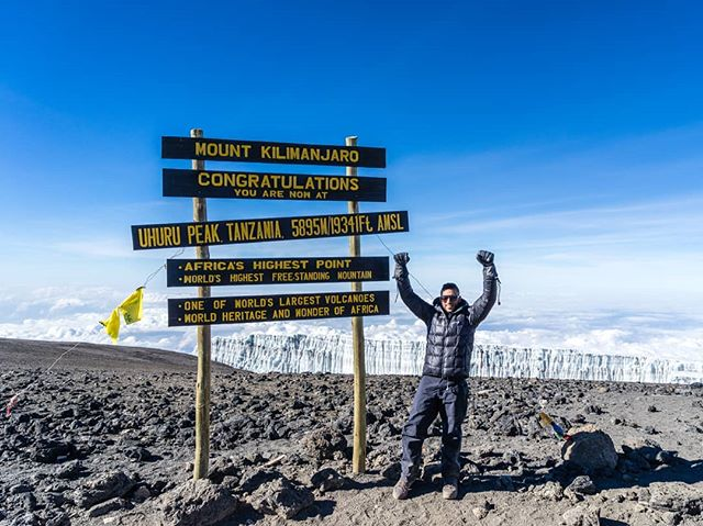 On a September morning 3 years ago, #kilimanjaro #tbt - photo cred @frozen_goat :P