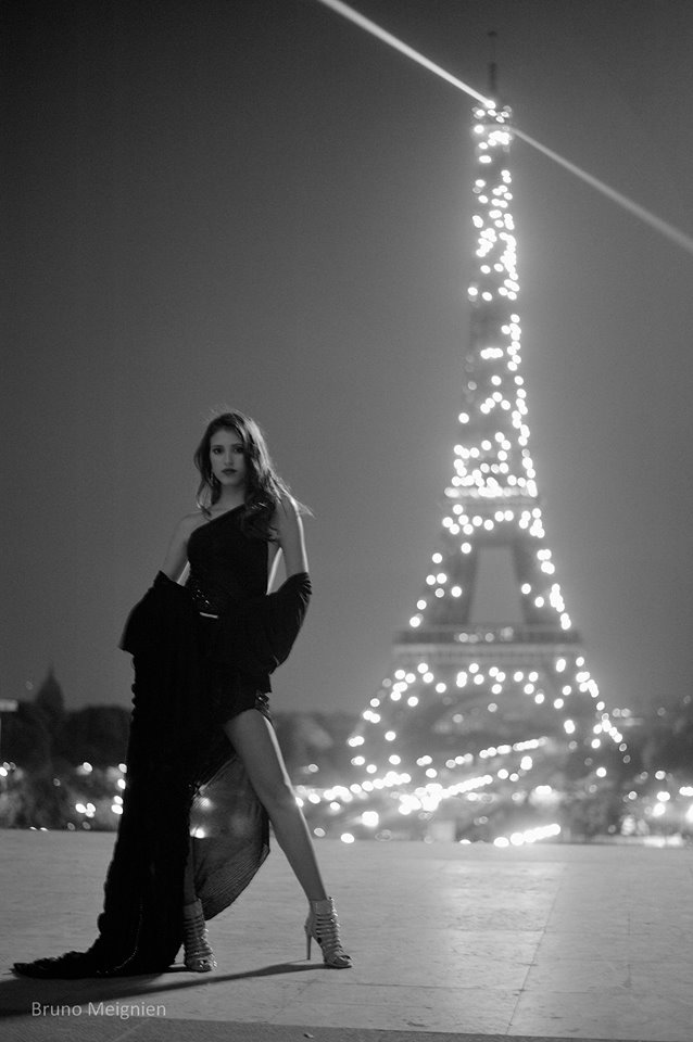 Our model Adriana in Paris, France.....