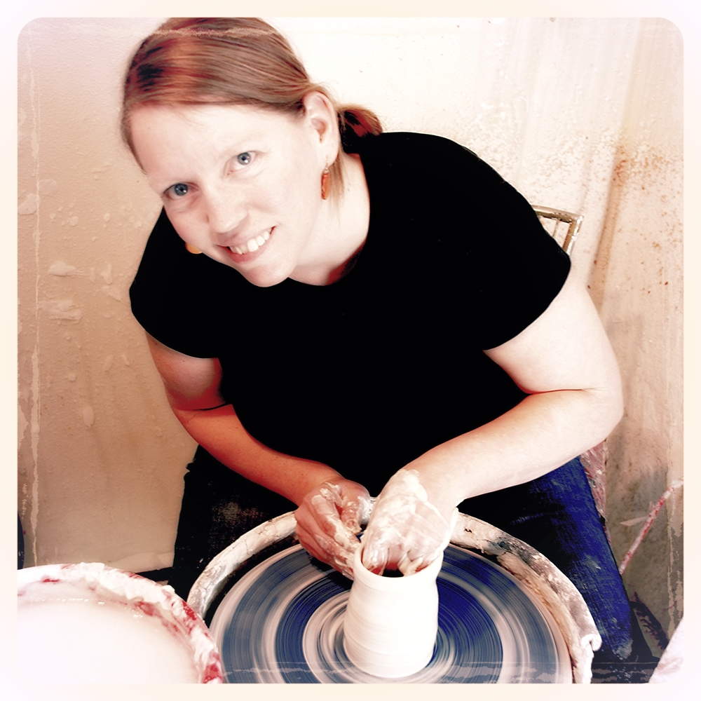 Throwing porcelain on the potters wheel. I've been on hiatus for a while, but will be returning to making more work this year.