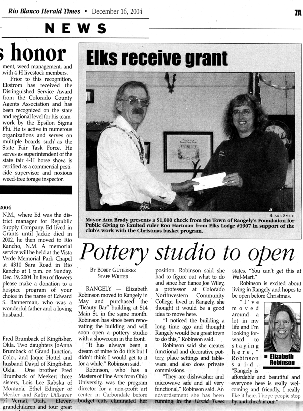 Little article in the local paper on the shop when I first opened up in 2004.