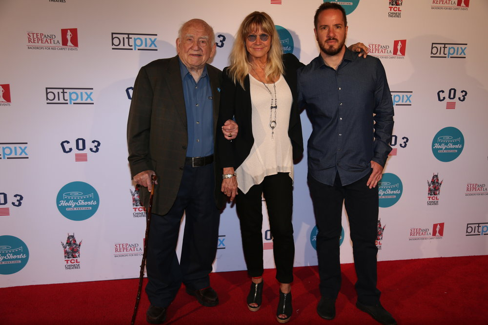 The iconic Ed Asner ( UP, The Mary Tyler More Show) attending opening night.