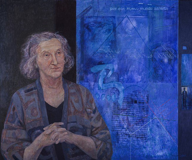 """Thea Musgrave"" © Victoria Crowe displayed at Scottish National Portrait Gallery"