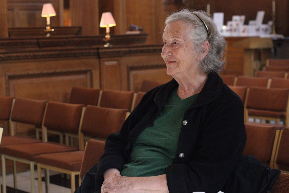 Thea Musgrave (2016), St Bride's, Fleet Street London. Photo by Thomas Le Brocq