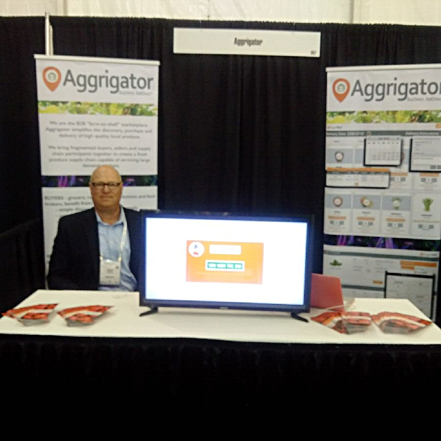 Travis Pendleton at the PMA 2016 for Aggrigator