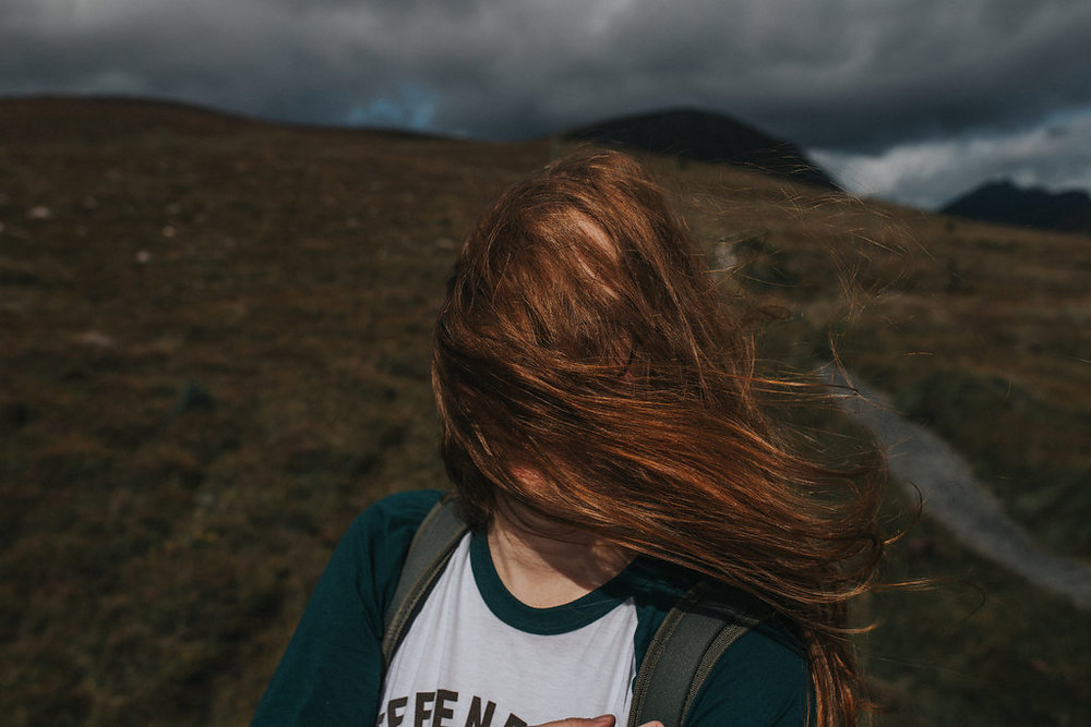 Just me, living my best life and fully embracing the Irish winds in the Mourne Mountains. More of this, please!