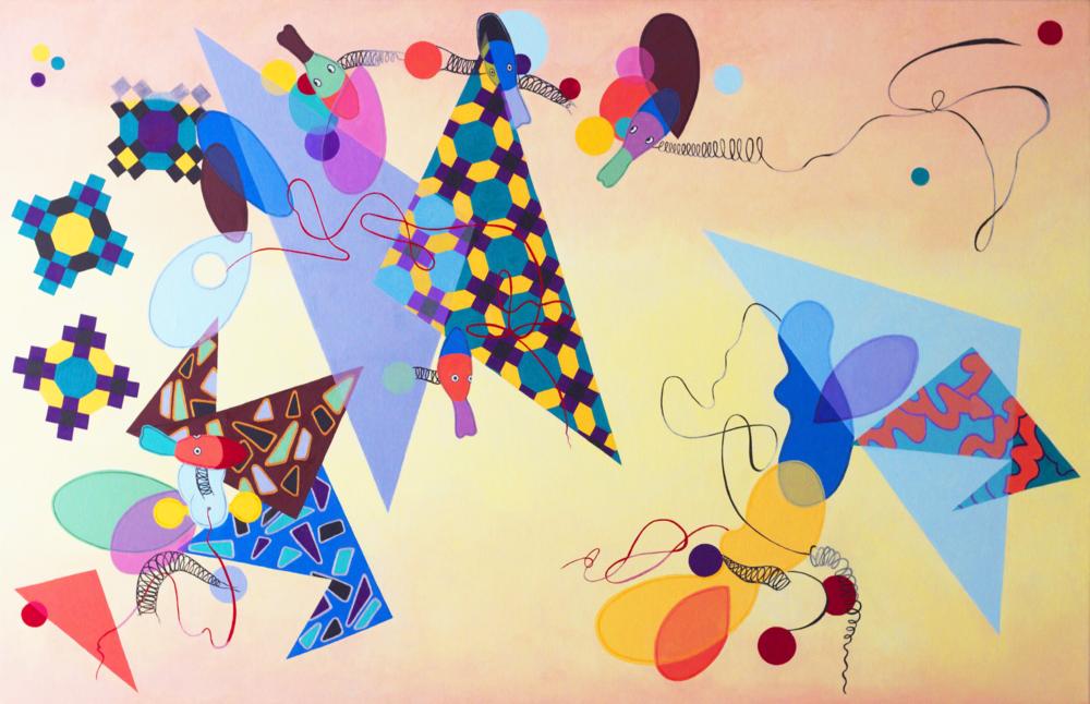 Good Day Sunshine, oil on canvas, 36 x 56 (2014)