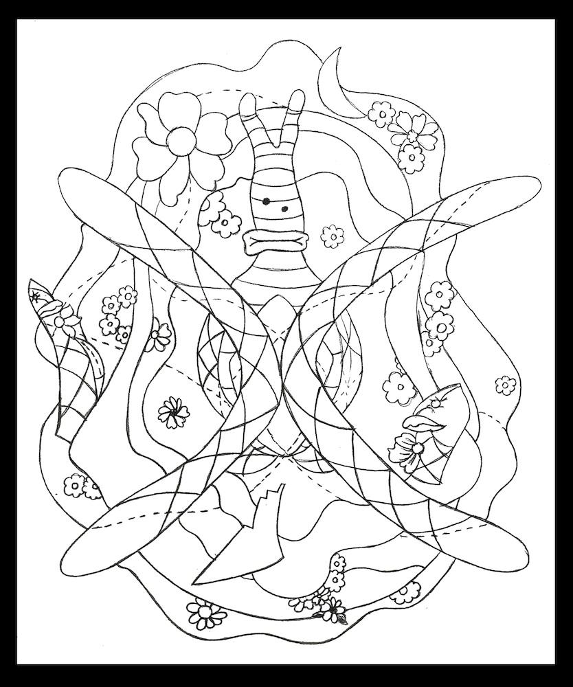 Icon, graphite on paper, 22-1/3 x 19 (2012)